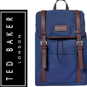 NEW💥TED BAKER ZAFRON FAUX NUBUCK BACKPACK IN Navy